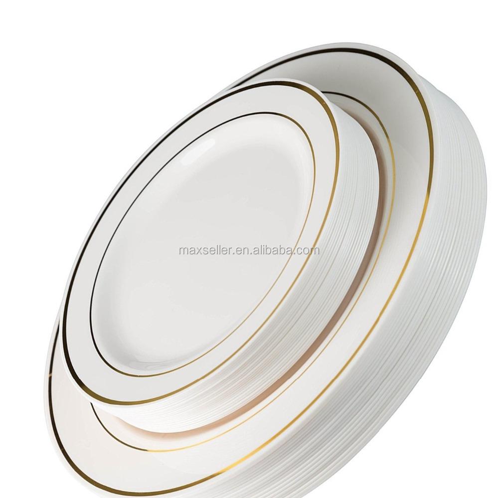 Disposable Wedding Plastic Plate And Silverware Combo SetIvory / Gold Rim PlatesGold Silverware - Buy Blackhead Remover Pimple ComedoneDisposable Wedding ...  sc 1 st  Alibaba & Disposable Wedding Plastic Plate And Silverware Combo SetIvory ...
