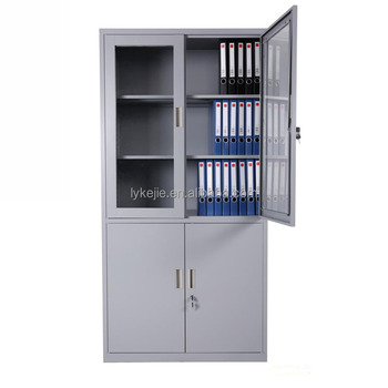 Office Steel Filing Cabinet Living Room Toy Storage Cabinet Glass