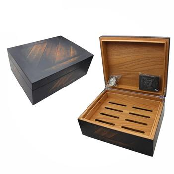 Wholesale Spanish Cedar Wooden Cabinet Cigar Humidor With Hygrometer And Humidifier
