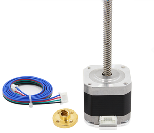 Nema 17 Stepper Motor 1.5A with 4pin Cable T8 Lead Screw 300mm Trapezoidal Nuts Part For CNC Z Axis Linear 3D Printers Parts Set