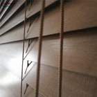 YL hot sale horizontal window shade natural wood color Venetian blinds 50mm basswood slats