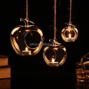 handblown hanging glass votive tealight candle holder