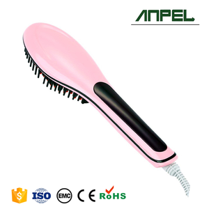 Best Selling Adjustable Electric Hair Straightening Brush with LCD Display
