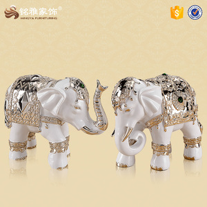 Factory custom home decoration resin animal figurine elephant statues for gift item
