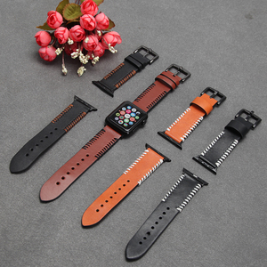 New-style Genuine Leather Buckle Wrist Watch Band Strap For iWatch Apple Watch