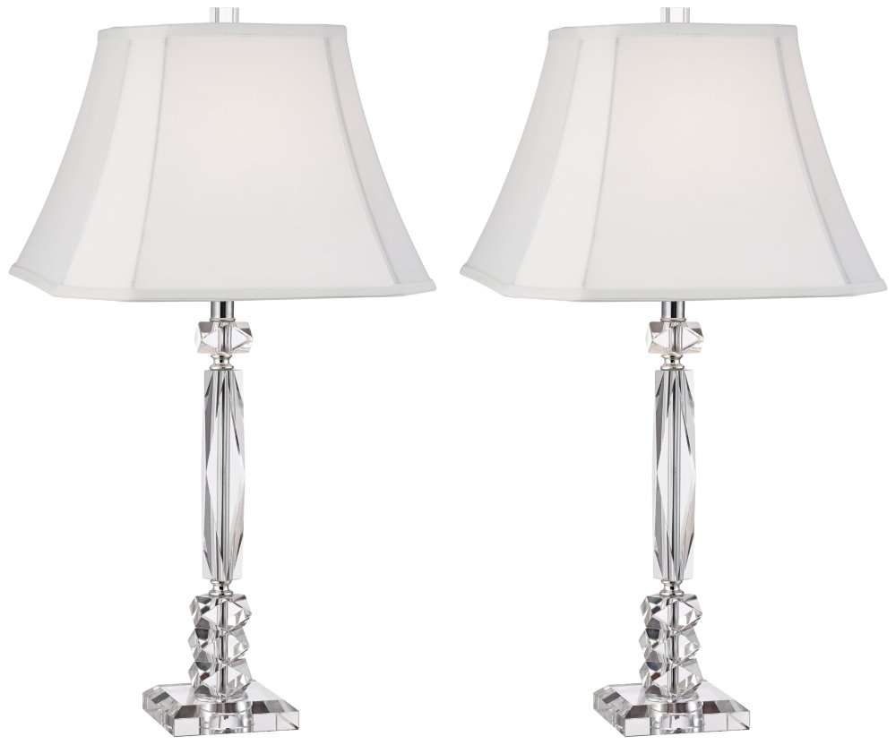 Mitzie Column Cut Crystal Table Lamp Set of 2