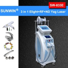 OPT/SHR fast hair removal machine with laser function