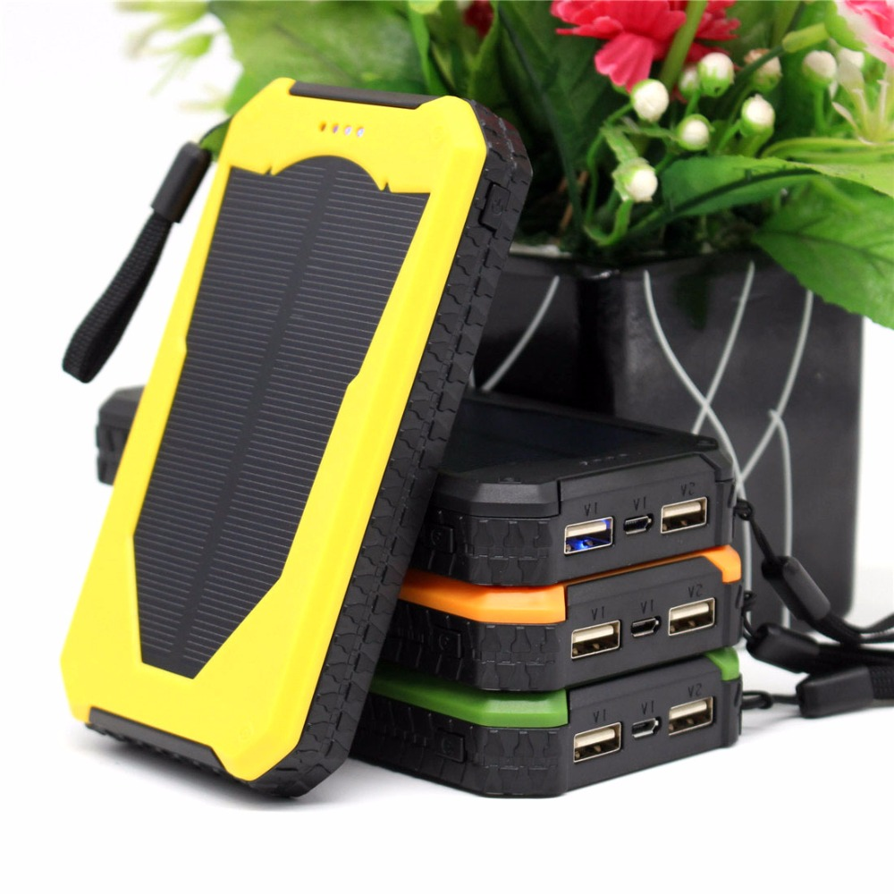 12000mah Portable Solar Charger waterproof Mobile phones Solar Power Bank