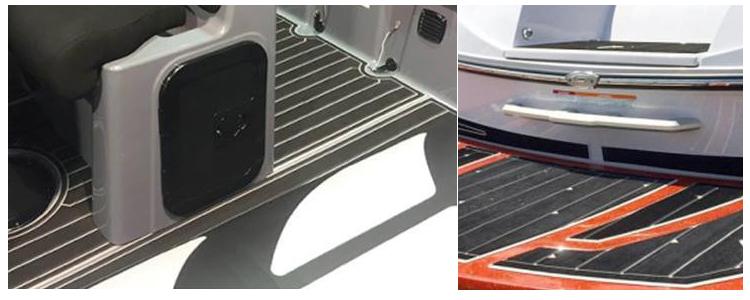 6 MM Black Blue Boat Marine EVA Foam Flooring Faux Teak Deck Pad Sheet