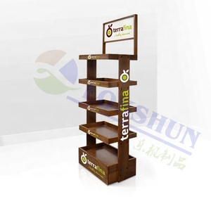 4 Layers Customized Size Wooden Fruit Display Stand/Wood Flooring Display Rack For Supermarket
