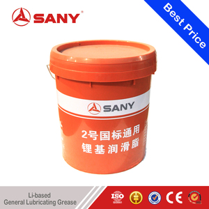 SANY Genuine Parts Hot Sale Excavator Parts Li-based General Lubricating Grease 15KG of Lithium Soap Based Grease