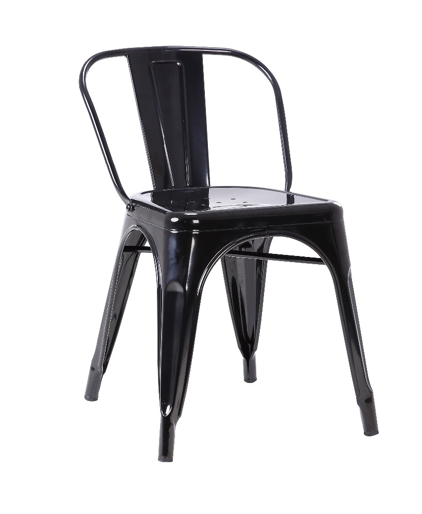 Cheap French Metal Chair for Restaurant Polished Metal Chair