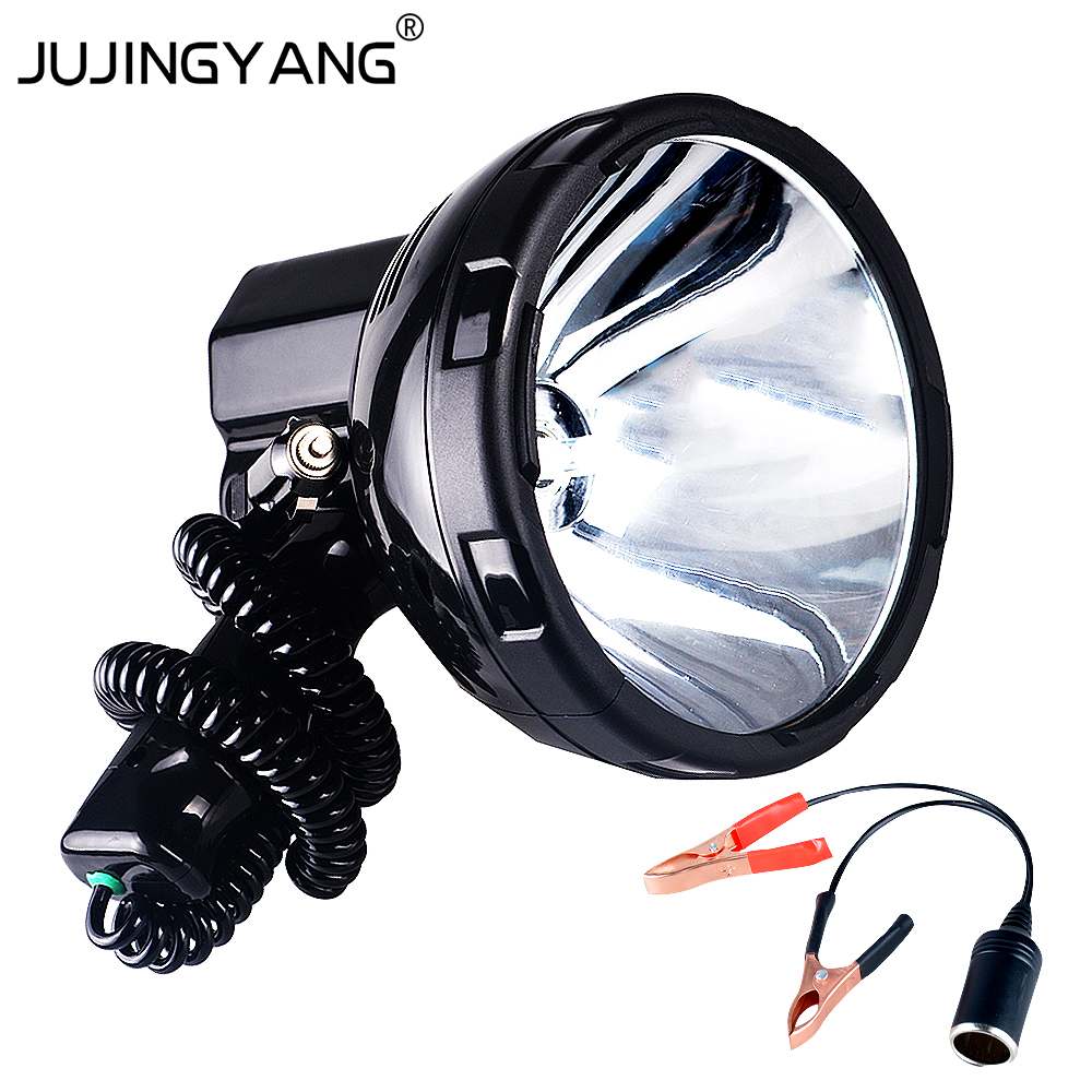 Portable 12V 220W h3 xenon marine search light for fishing,camping,hunting,boat,vehicle