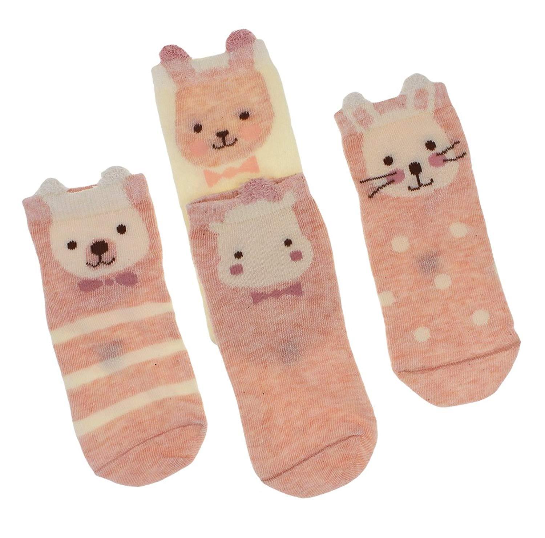 "[Aiko] Kids Socks, Cute Design, Children's Footwear, 0~12 years, US 2.5~6 (XXL: 12 yrs~ (8.7""- 9.5""/ US 3.5-6/22-24cm), E Set)"