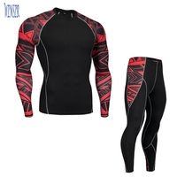 OEM Custom Sublimation Print Compression Short Sleeve T Shirts Running Leggings Fitness Sports Yoga Athletic Gym Suit Men