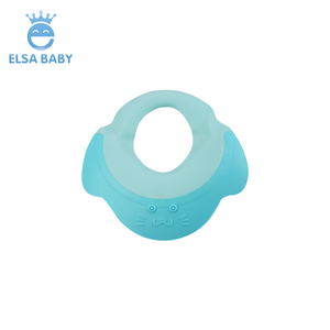 High quality silica gel plastic sun visor kids children caps waterproof hat baby shower cap for shampooing