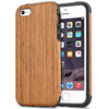 2017 Trending Products Unique Hybrid Natural Wood TPU Rubber Protective Wooden Rubberized Case for iPhone 7 7 Plus