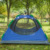 hot selling outdoor leisure 4 man double layers tunnel camping tent