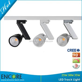 Track Rail Busbar 35w 60degrees Reflector Led Track Light Spot ...