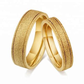 2018 Fashion Lover Titanium Steel Romantic Pearl Sand Wedding