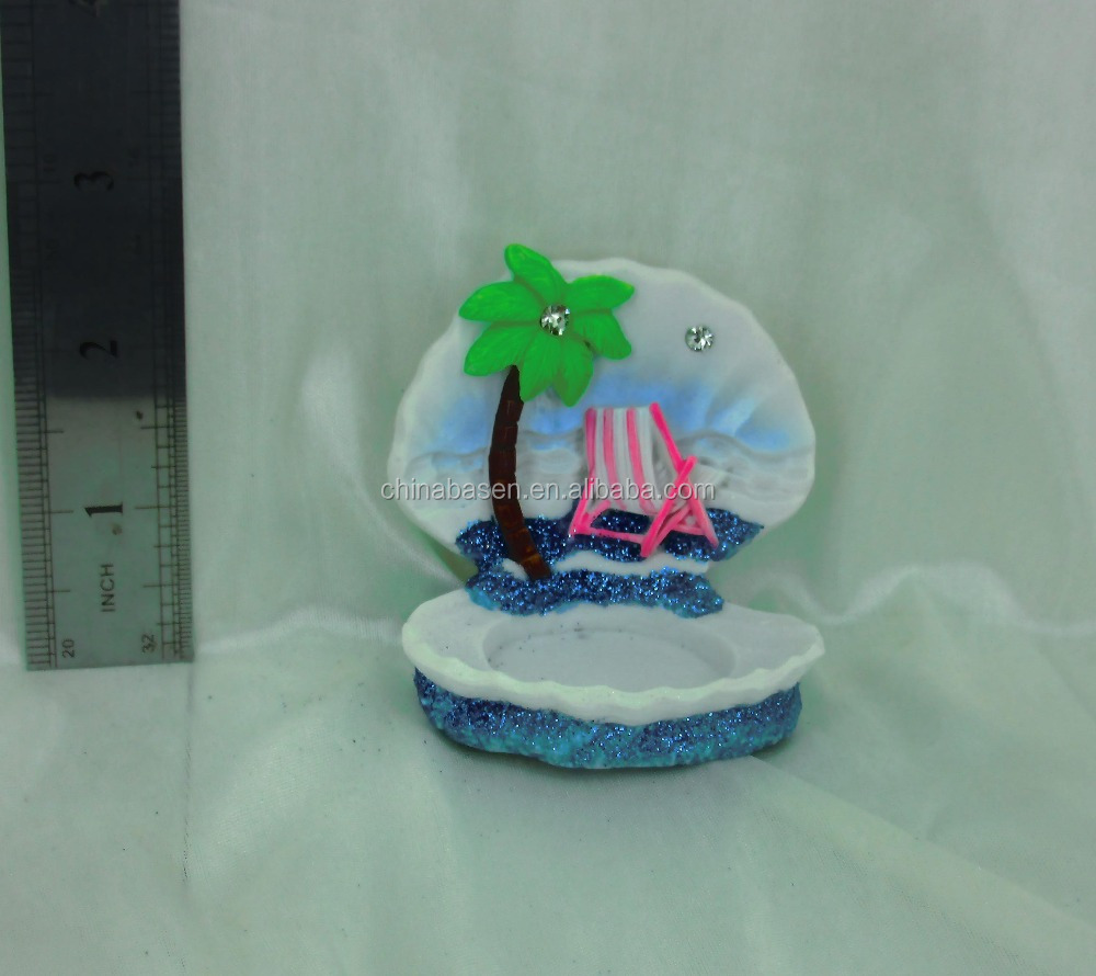 custom sea shell type resin candlestick souvenirs, creative travel gifts
