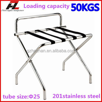 Modern High Back Stainless Steel Luggage Rack For Hotel Bedroom ...