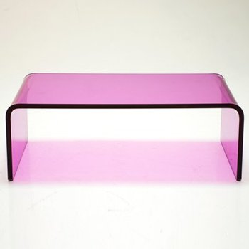 Pink Glass Coffee Table 7