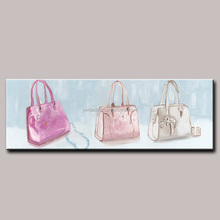 High Quality Creative Large Size Oil Painting Woman Bag Handmade Wall Picture Decorative