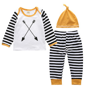 2019 wholesale toddlers clothing 100%cotton newborn baby boy outfit fashion kids clothing set