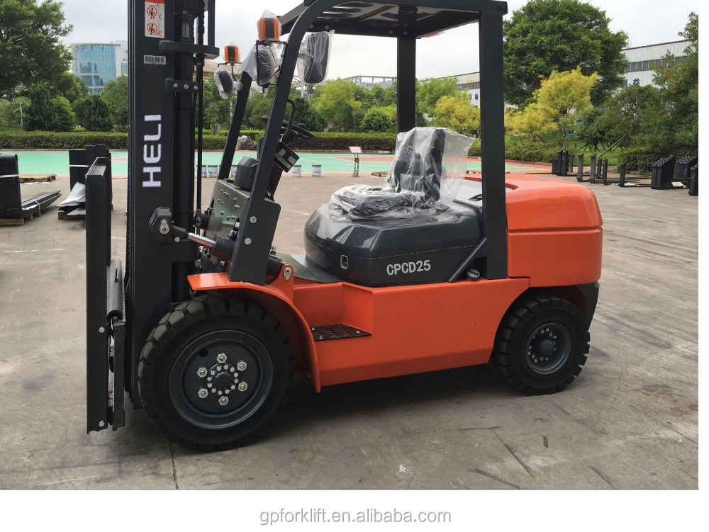 Heli 4 ton diesel forklift 5 ton 3.5 ton forklift truck price low CPCD50