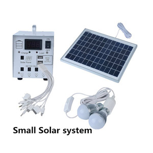 Hot sale 8W/10W/20W portable solar home lighting system with battery with led bulbs for home use