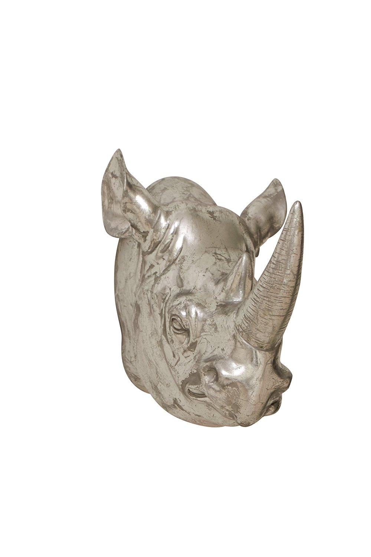 Plutus Brands Mesmerizing Styled Polystone Rhino Trophy Head