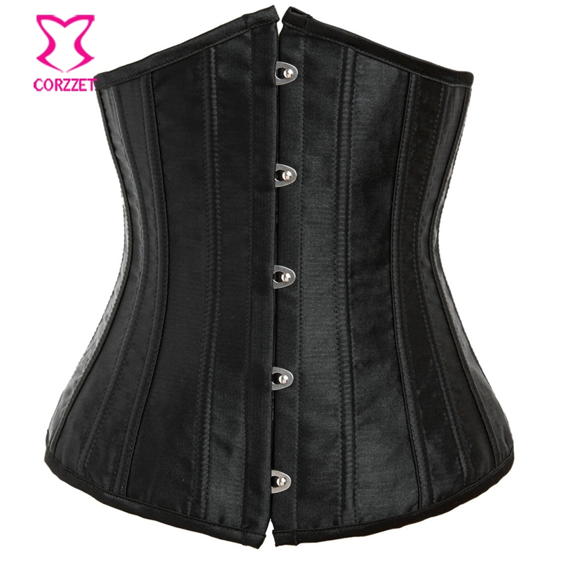 Latex Waist Cincher Trainer Shaper Women 24 Roots Steel Boned Waist Training Corsets Sexy Black Underbust Corset And Corselets
