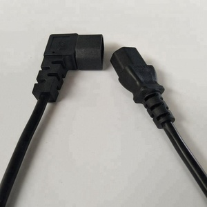 High quality male and female 90 degree power cord plug for computer extension cord