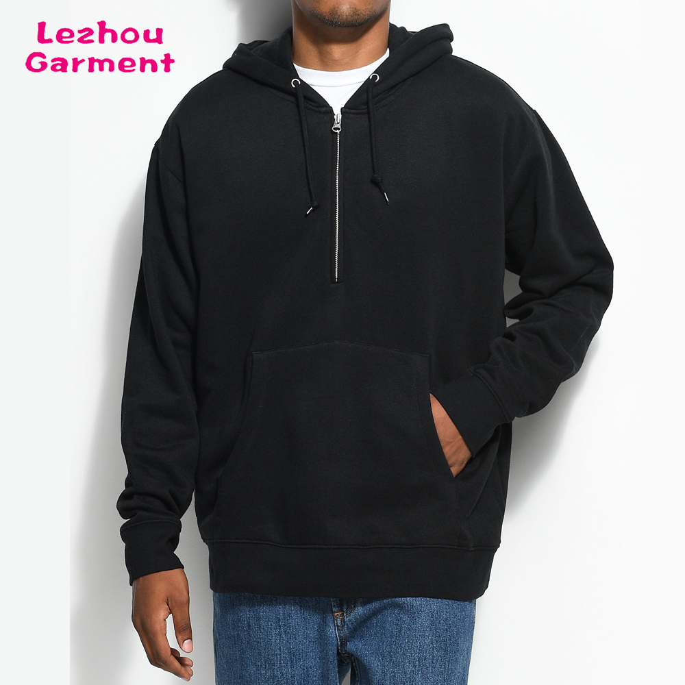 Oversized Plain Half Zip Pullover Hoodie Men - Buy Oversized Plain ...