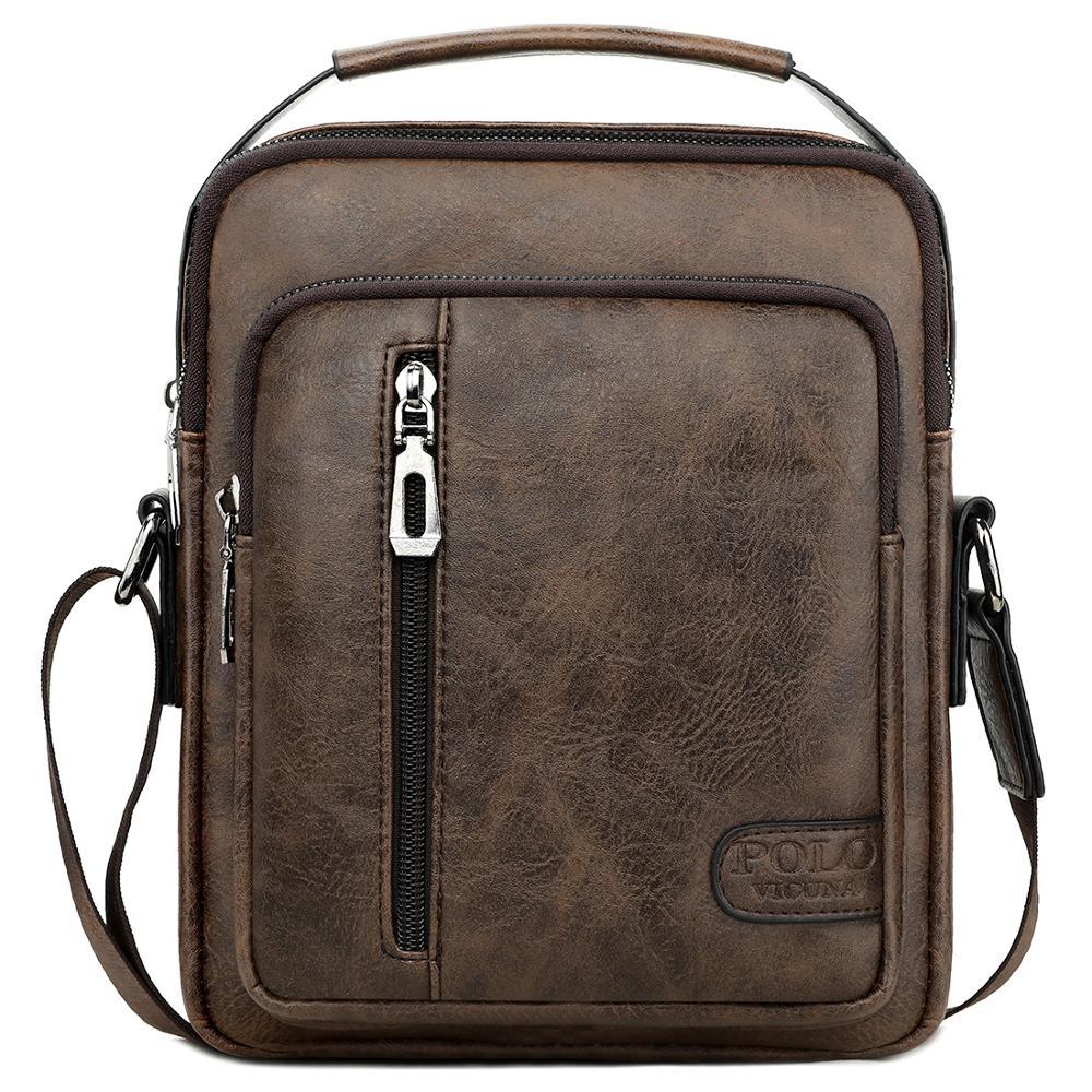 Vicuña Polo nuevo diseño promocional bolsa de lujo de moda de los hombres de la Pu bolso de mensajero de cuero bolso bandolera para los hombres