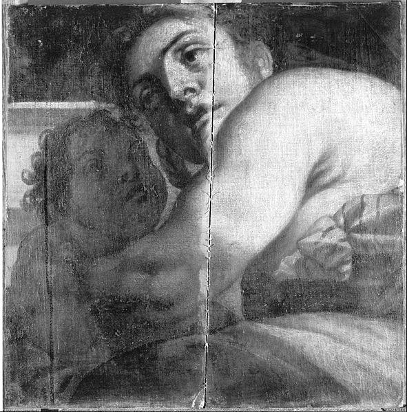 Canvas Art Prints Fabric Wall <font><b>Decor</b></font> Giclee Oil Painting <font><b>Italian</b></font> (bolognese) - Woman And Child