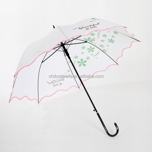 23 inch 8 panels white umbrella and white parasol