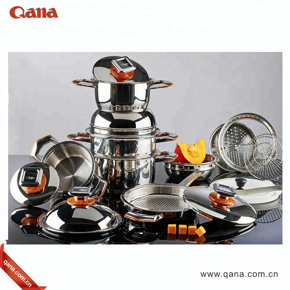 Italy style stainless steel capsule bottom cookware sets pots