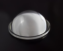 LED plano convex optical glass lenses 66mm for high bay light