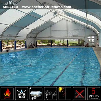 Outdoor Tfs Large Swimming Pool Shelter Tent - Buy Swimming Pool Cover  Tent,Strong Wind Loading Tent,Outdoor Tent Product on Alibaba.com