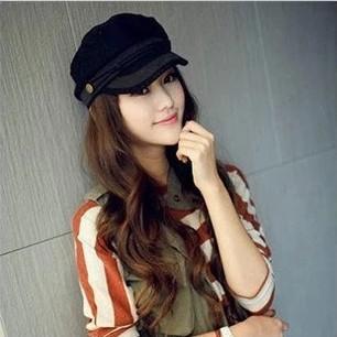 Осень и зима британский стиль винтажный женщины шляпа морской синий кепка свободного покроя берет 5 цветов для выбора