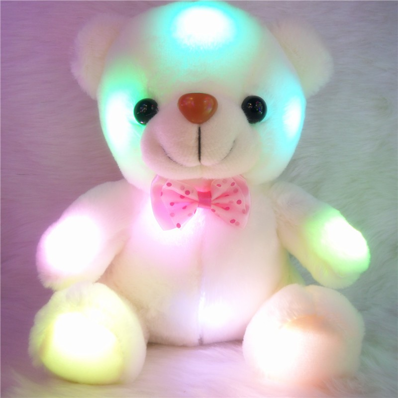 Dynamic New Cute Creative Night Light Led Stuffed Animals Lovely Dolphin Glow Plush Xmas Toys Drop Shipping Moderate Price Toys & Hobbies