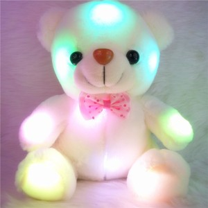 Creative Light Up LED Teddy Bear Stuffed Animals Plush Toy Colorful Glowing Teddy Bear Christmas Gift for Kids