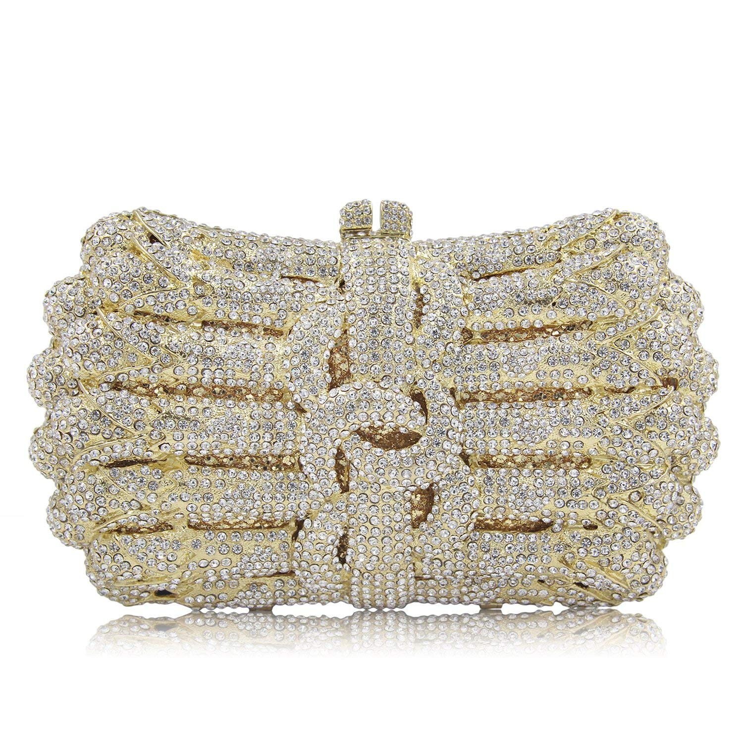 32602985ef Get Quotations · Women s Clutch Purses For Women Evening Crystal Gold Evening  Clutch Purse Bridal Cocktail Party Wedding
