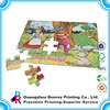 Cardboard made high quality custom cartoon puzzle printing