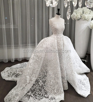 2018 Luxury Lace Elegant Wedding Dress Ball Gown Princess China Custom Make