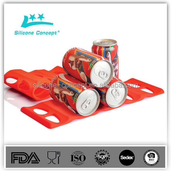 silicone bottle stacker beer mat fridge monkey