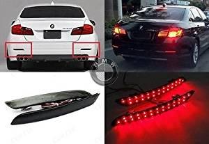 LEDIN BMW F10 F11 F18 5-Series Black Smoked Lens Bumper Reflector LED Tail  Brake Light
