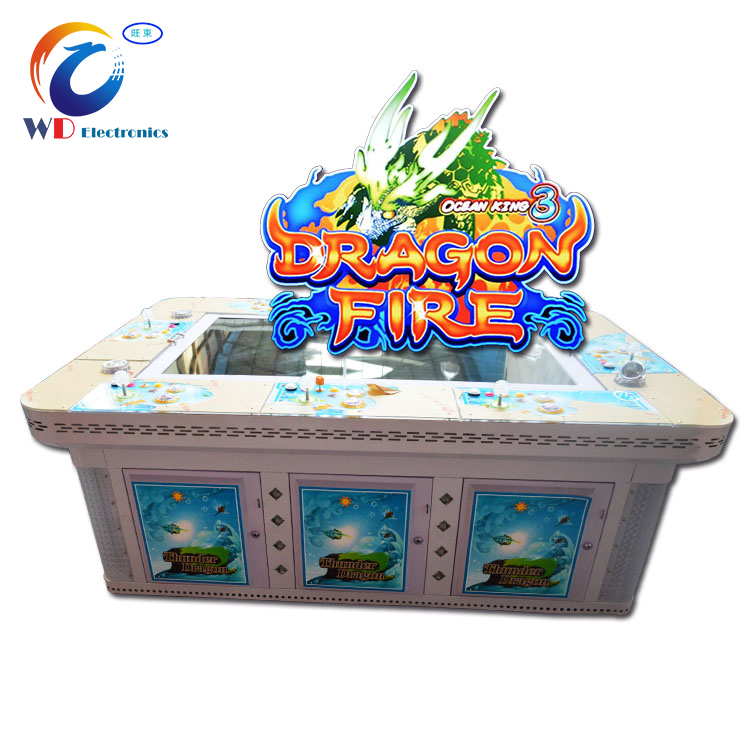 OK3 dragon fire fish hunter gaming game machine 10 players/ video table fish gambling games with multiplier game